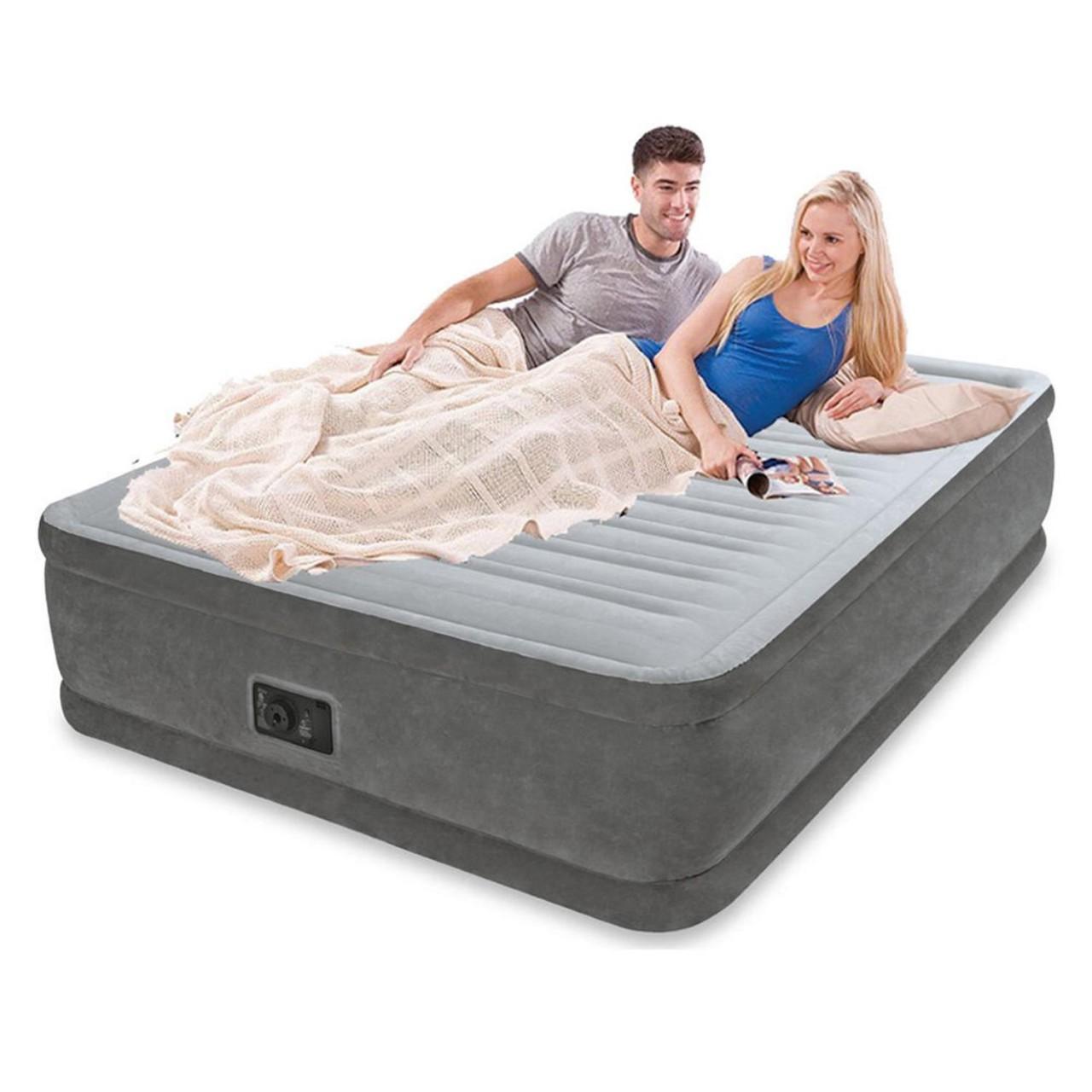 Intex Luftbett mit Pumpe Gästebett Luftmatratze 236x152x86cm