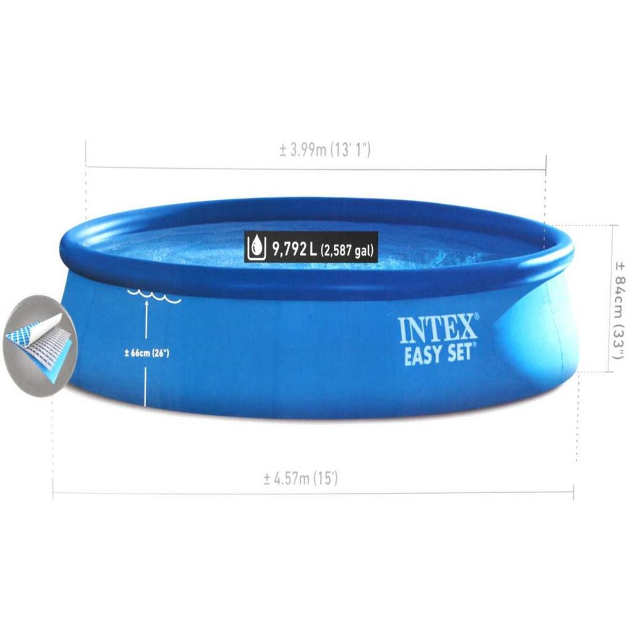 Intex 28158 Easy Set Swimming Pool Ø457x84cm Aufstellpool Filterpumpe Rundpool