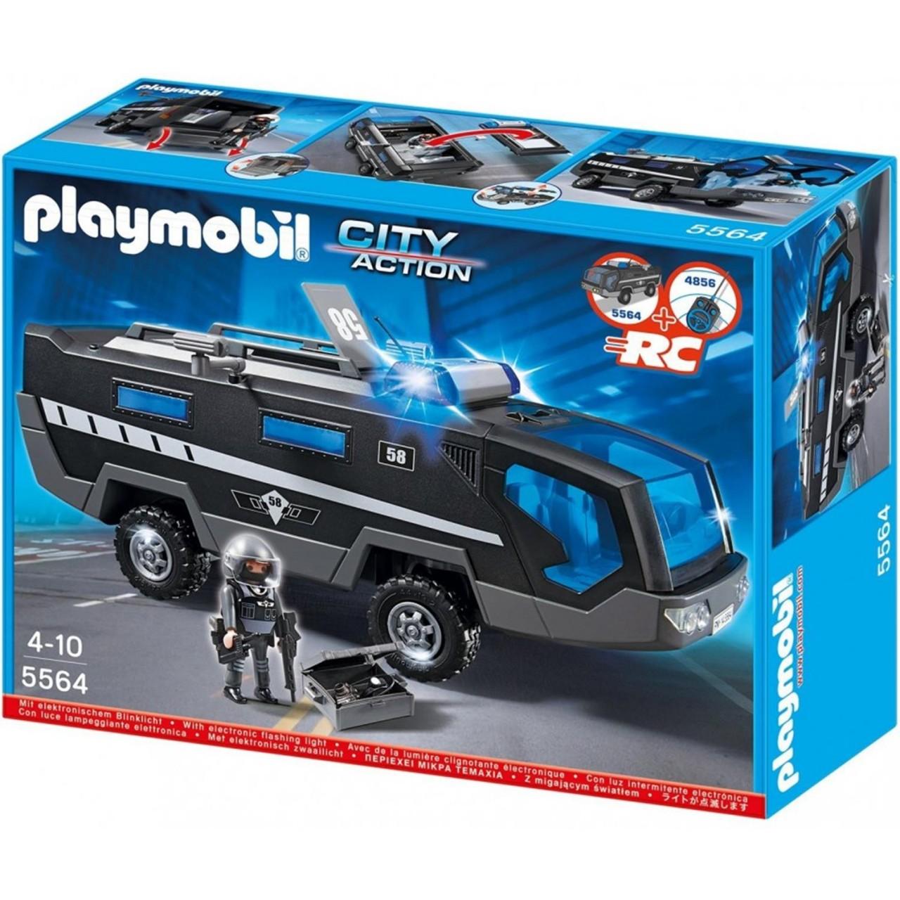 Playmobil 5564 City Action Einsatztruck SEK mit Licht und Sound Neu & OVP