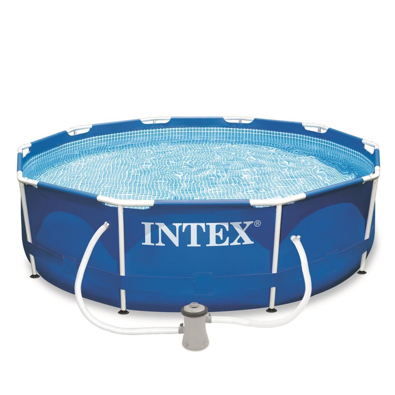 Intex Frame Pool Set mit Pumpe 305x76cm Stahlrohrbecken Schwimmbecken - 28202