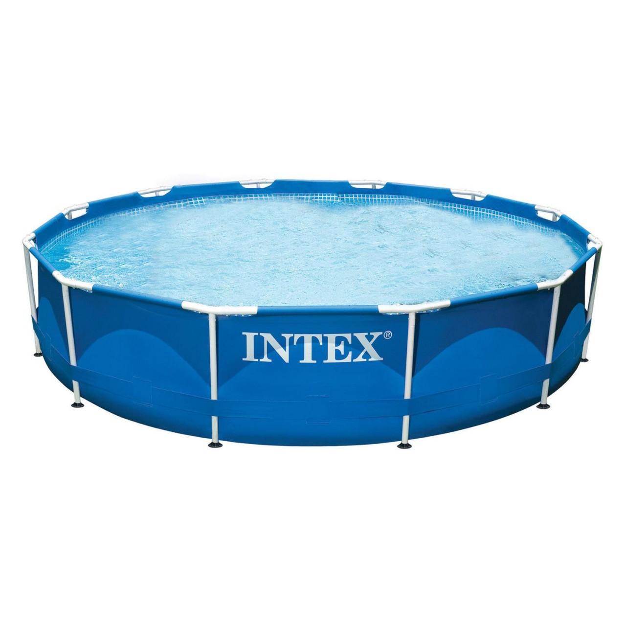 Intex 28210 Swimming Pool Metal Frame 366x76 cm Stahlrohrbecken Schwimmbecken