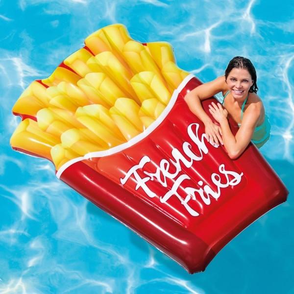 Intex 58775 Luftmatratze Pommes Matratze Chips 175x132 cm FrenchFries aufblasbar