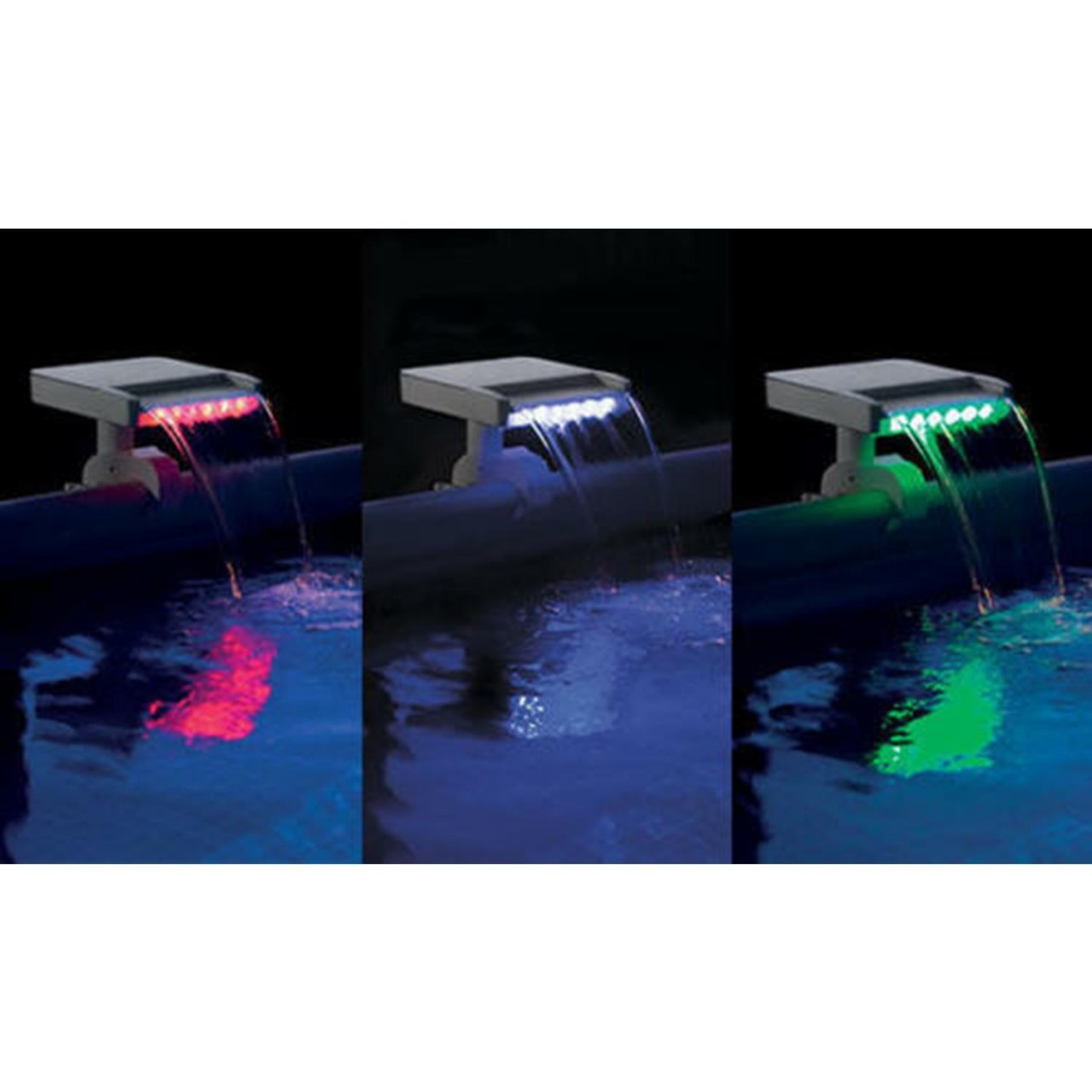 Intex 28090 Wasserfall Cascade Springbrunnen Multi-Color LED Pool Becken Sprayer
