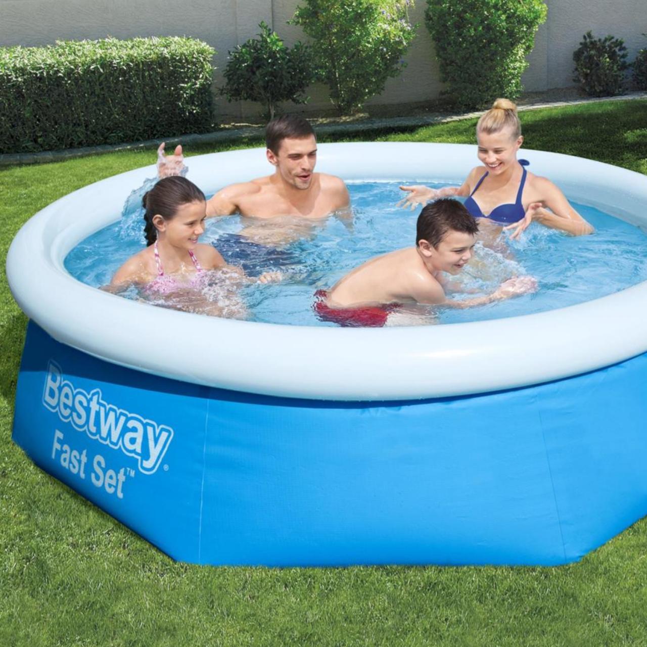Bestway 57268 Fast Set Pool Ø244x66cm Swimming Pool Filterpumpe Filterkartusche