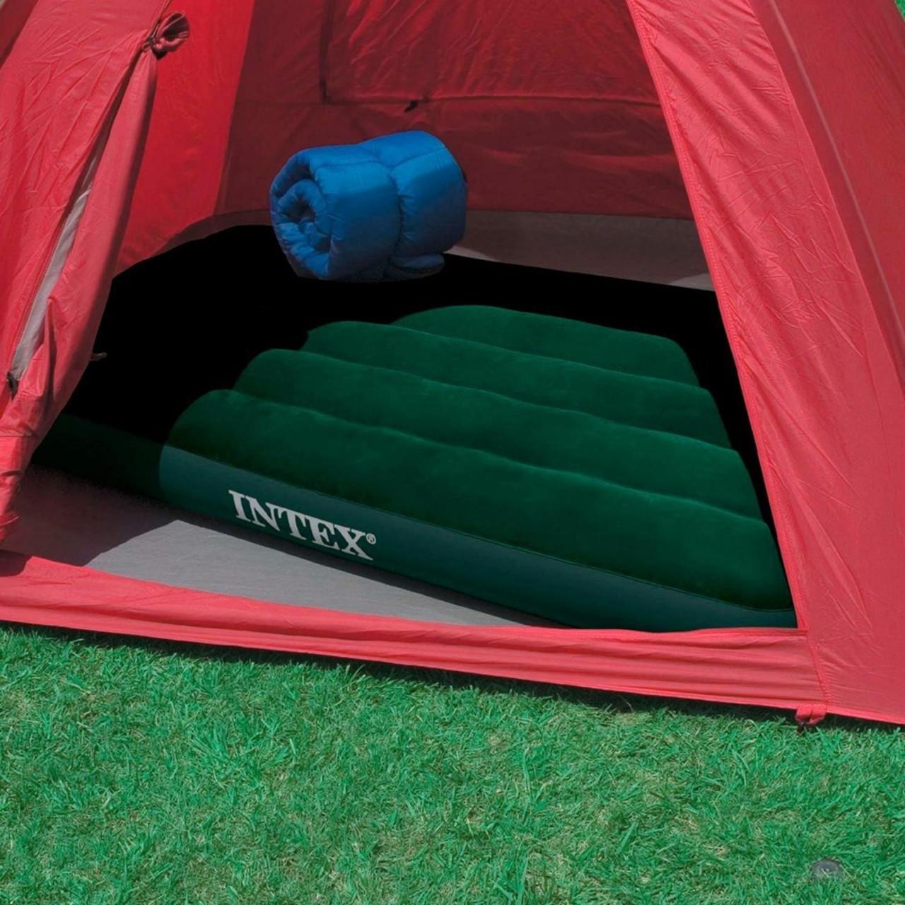 Intex Luftbett Gästebett Luftmatratze Camping 191x76x22cm intergrierte Fußpumpe
