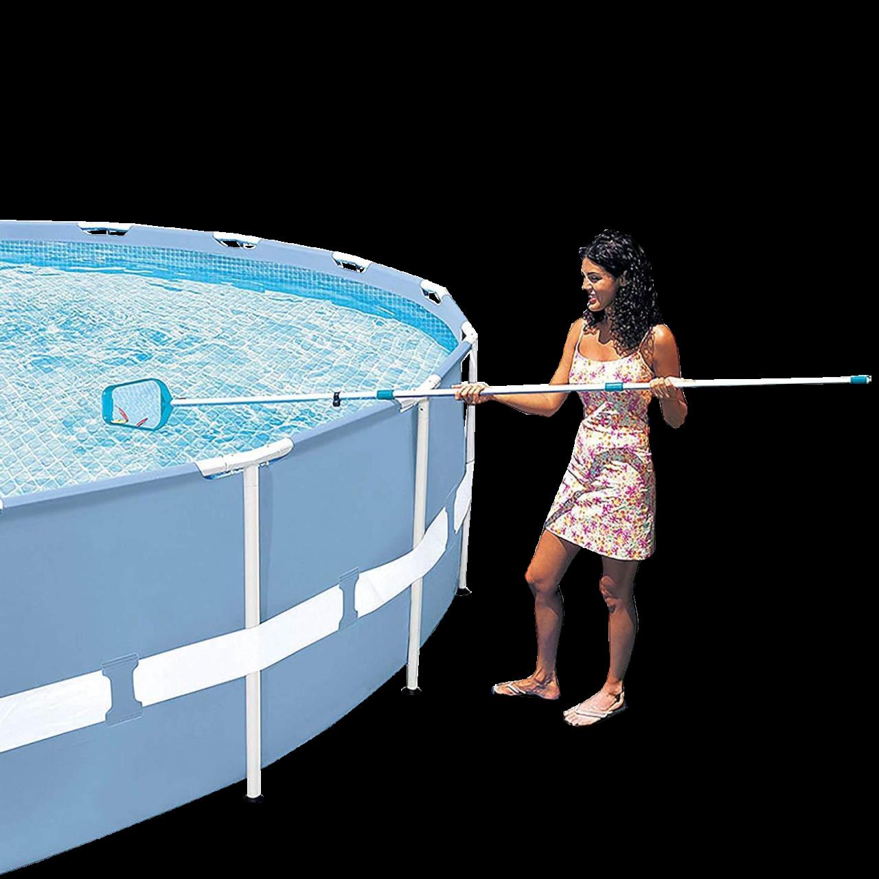 Intex Pool Reinigungsset 28002 mit Kescher Bodensauger und Teleskopstange 3-teil