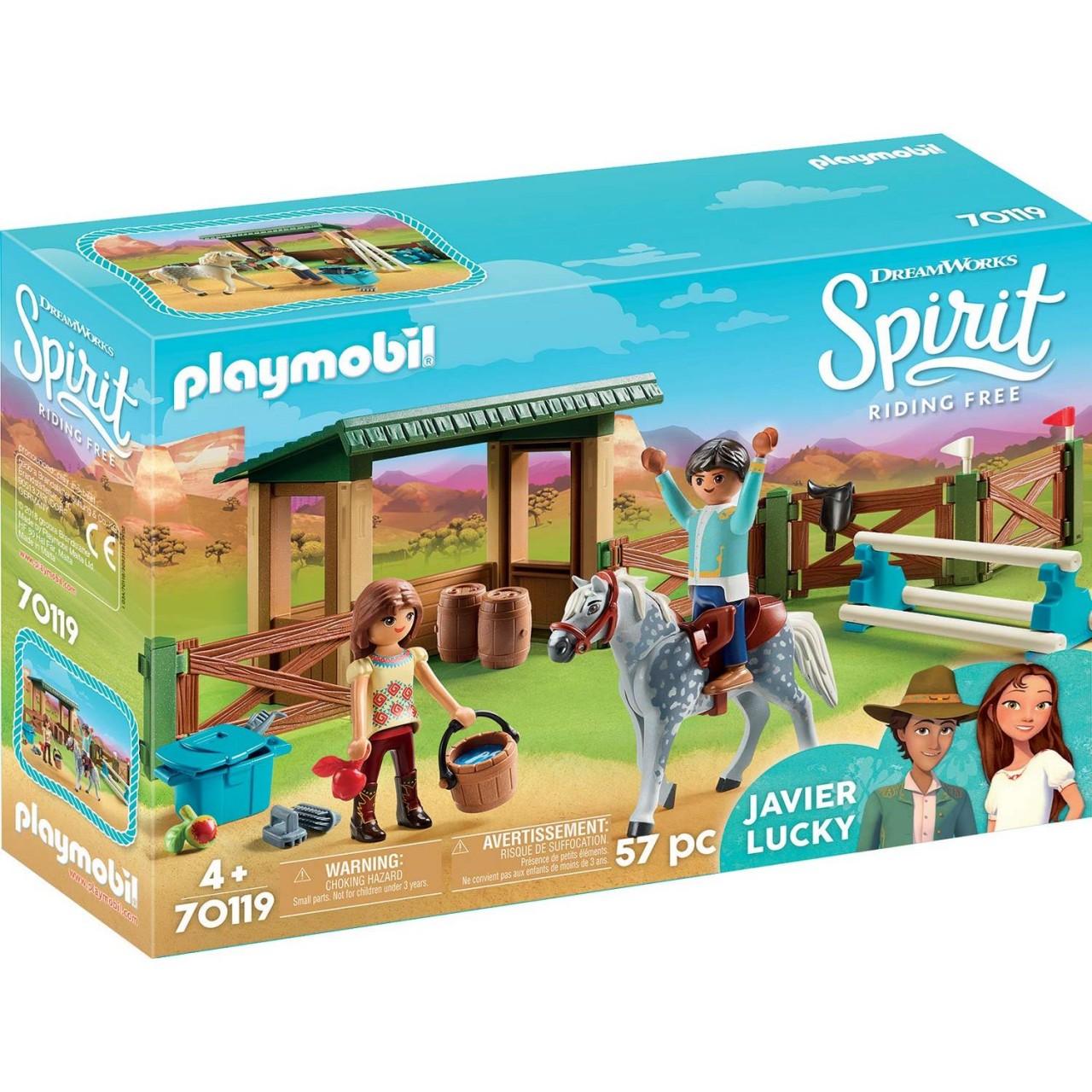 Playmobil 70119 Reitplatz mit Lucky & Javier