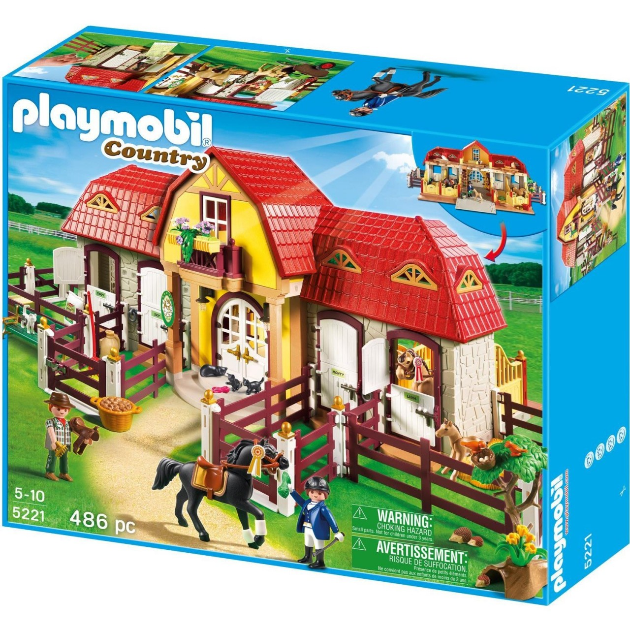 Playmobil 5221 Großer Reiterhof Pferdehof mit Paddocks NEU&OVP