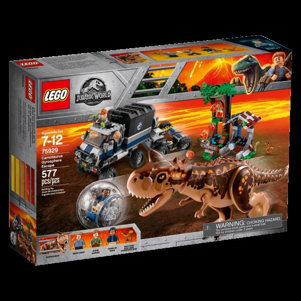 LEGO JURASSIC WORLD 75929 Carnotaurus – Flucht in der Gyrosphere