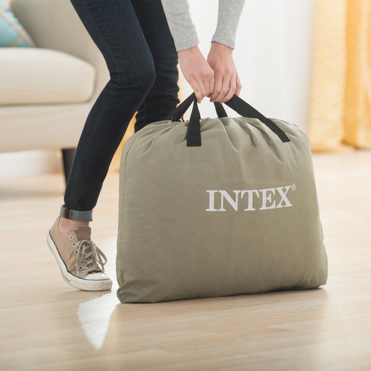 Intex Luftbett mit Pumpe Gästebett Luftmatratze 152x203x51 cm selbstaufblasend