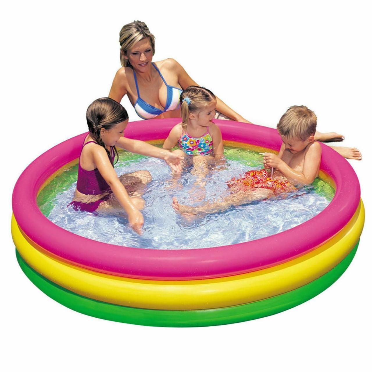 Intex Planschbecken aufblasbarer Babypool Kinderpool Schwimmbad 144x25cm 57412
