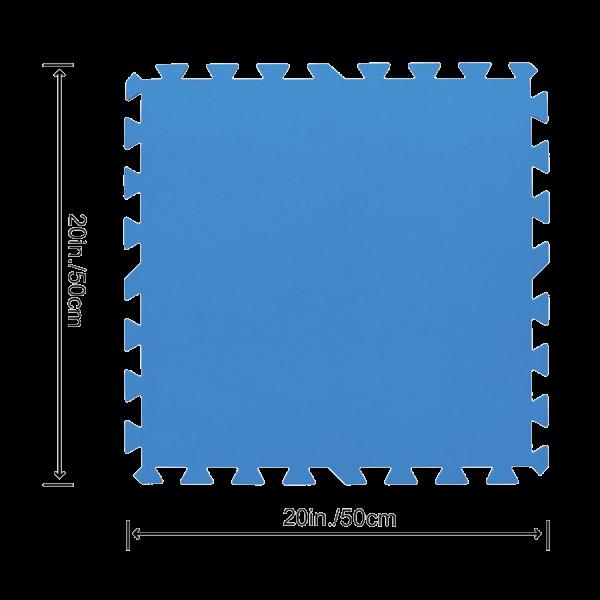Bestway 58220 Flowclear Pool-Bodenschutzfliesen-Set blau 9 Stück á 50 x 50 cm