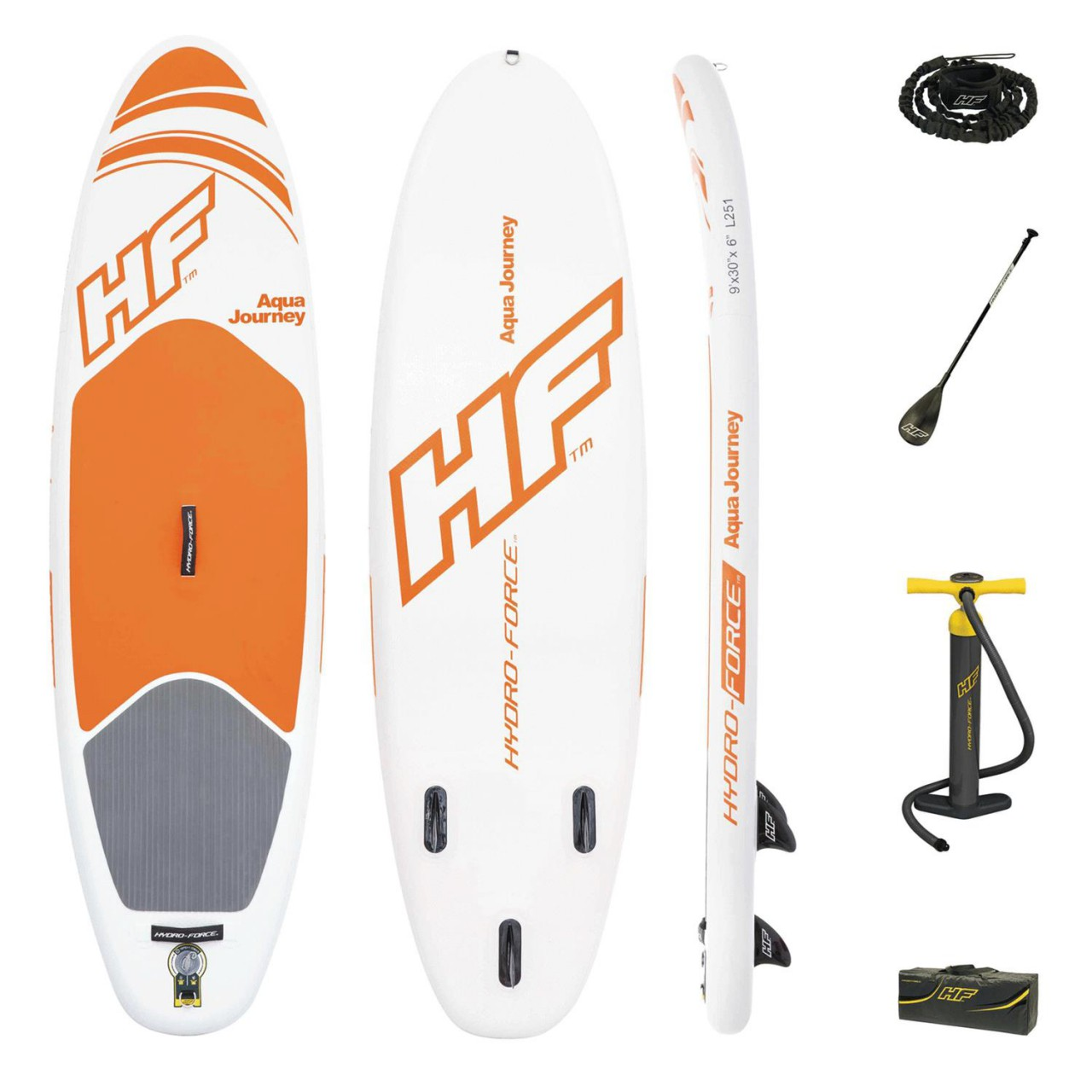 Bestway Hydro-Force SUP-Board aufblasbares Stand Up Paddelboard Aqua Journey
