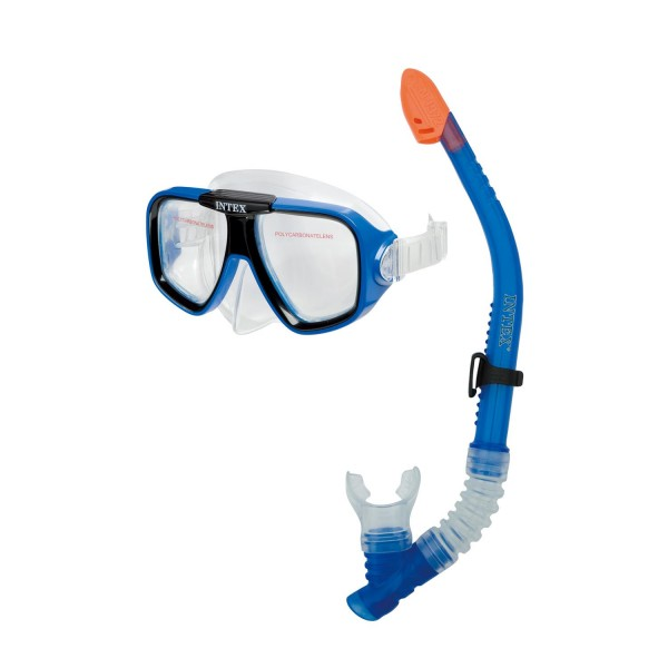 INTEX Schnorchelsets Tauchmaske Taucherbrille mit Schnorchel Flossen 55948