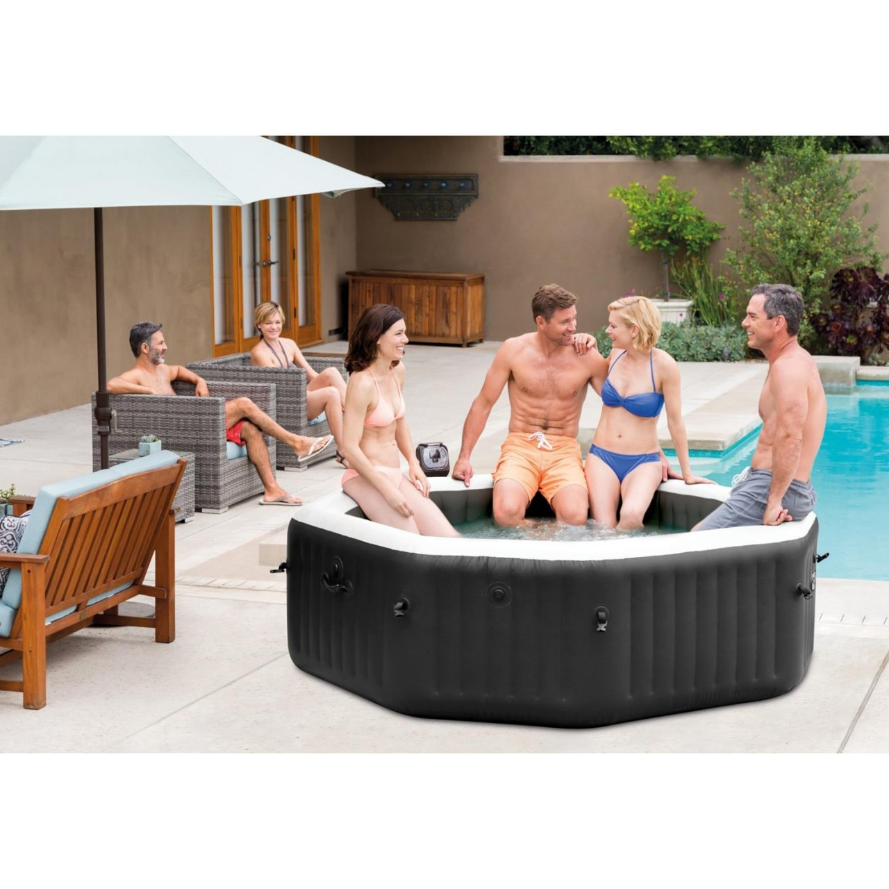 Intex Whirlpool Spa Jet Bubble Massage Becken Salzwassersystem Kalkschutz 28456