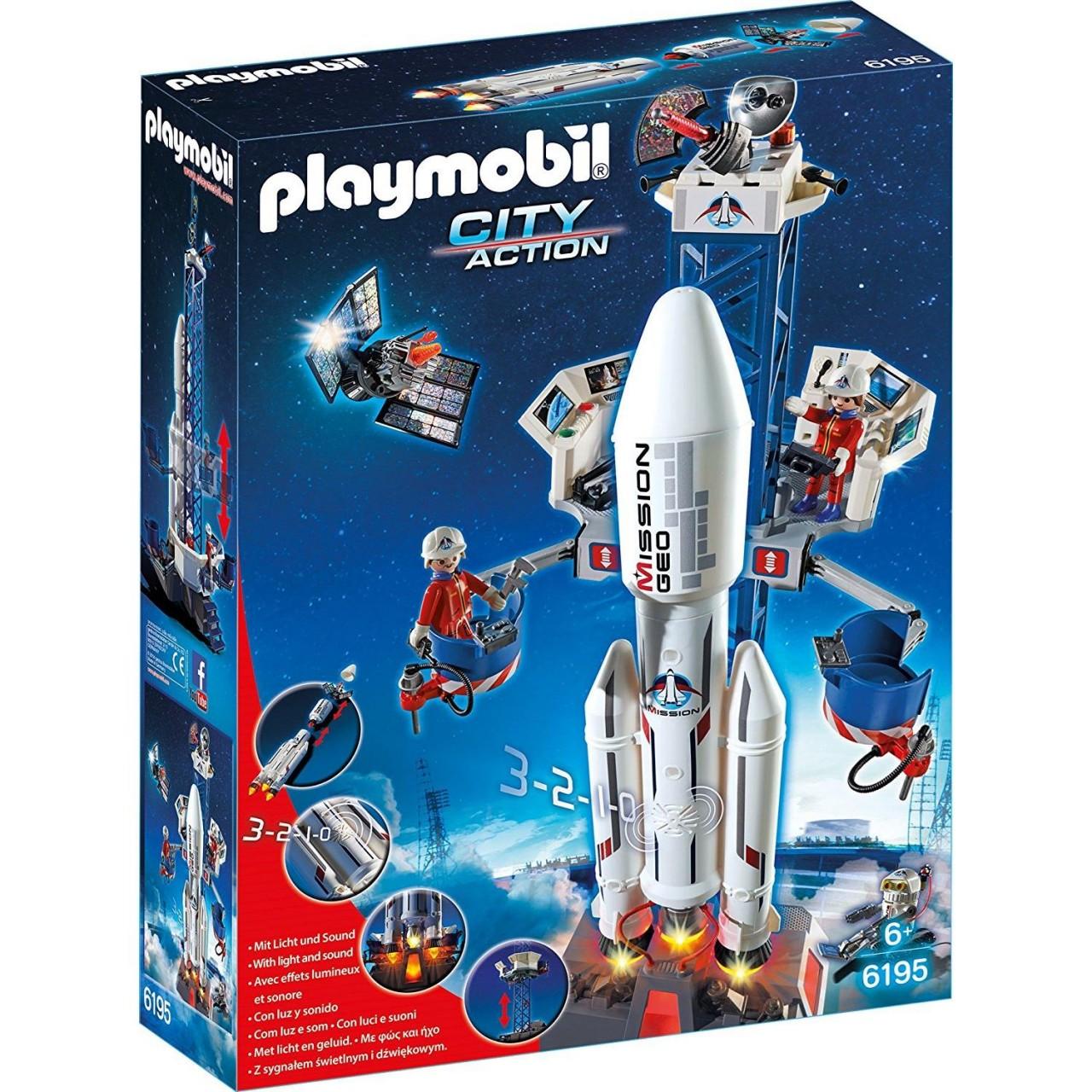 PLAYMOBIL 6195 Weltraumrakete mit Basisstation Neu & OVP