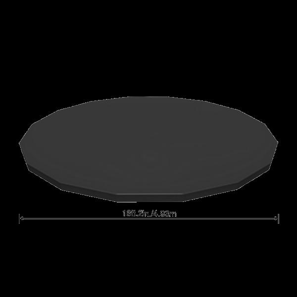 Bestway 58249 Flowclear PVC-Abdeckplane Ø493 cm für Power Steel Pool Ø488 cm