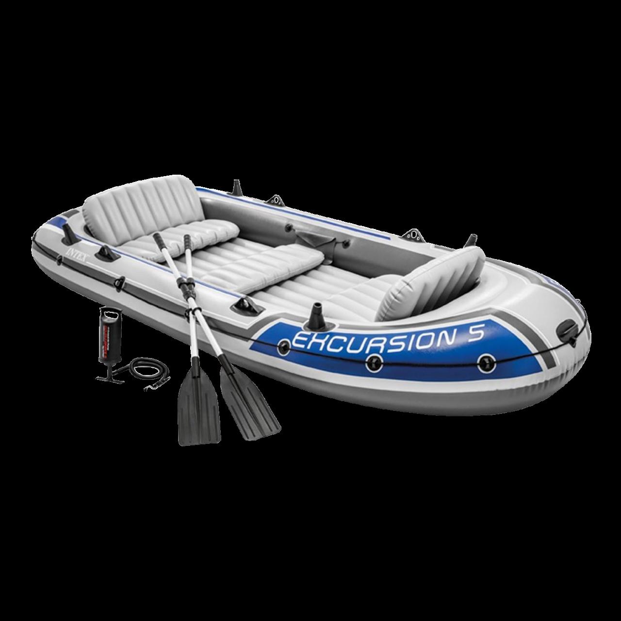 Intex 68325 Schlauchboot Excursion 366x168x43 cm Angelboot inkl.Paddel + Pumpe