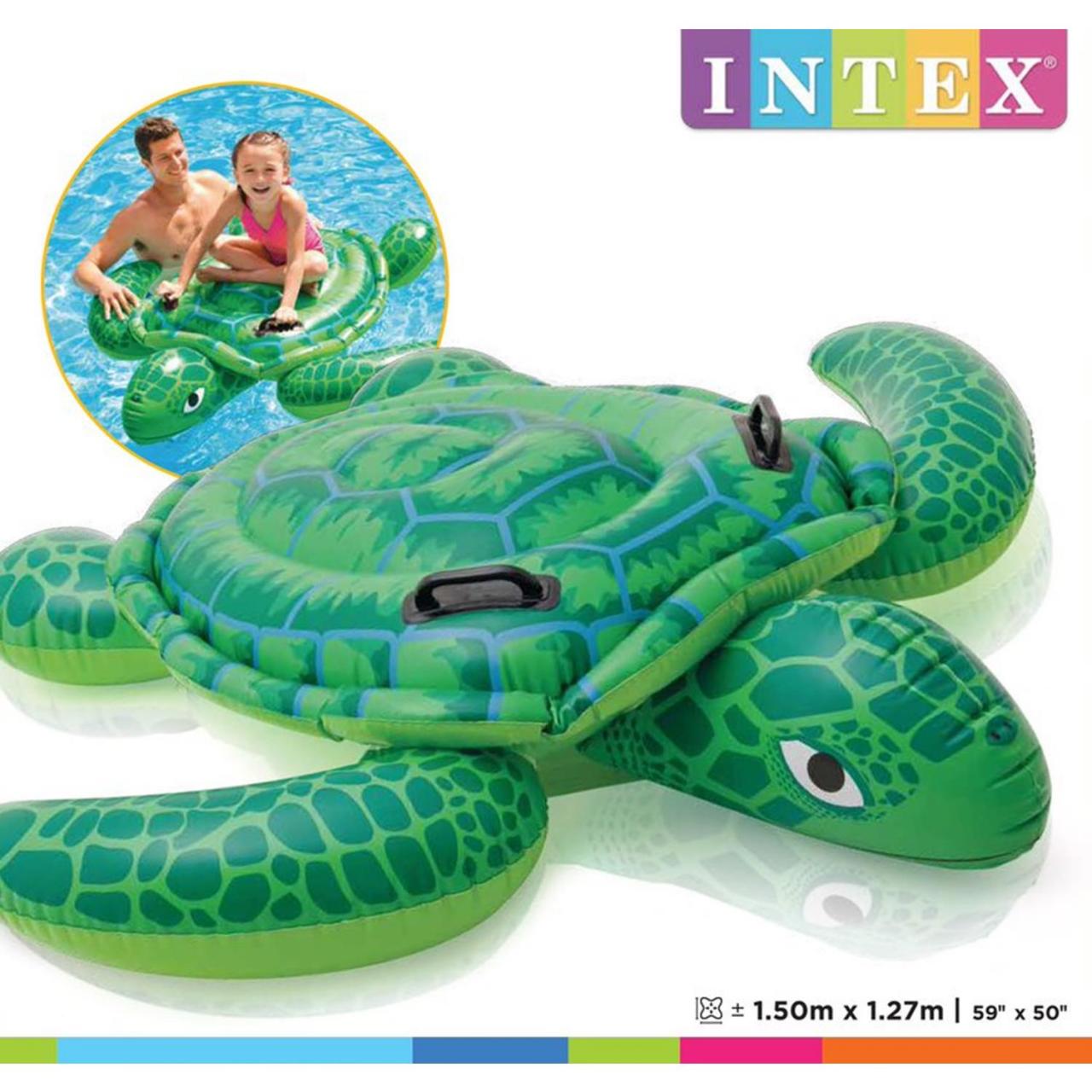 Intex 57524NP - Lil' Sea Turtle Ride-On, 150 x 127 cm