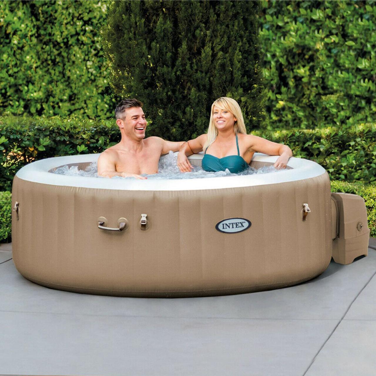 Intex 28426 Whirlpool Pure SPA Bubble Massage 196x71 cm aufblasbar 4 Personen