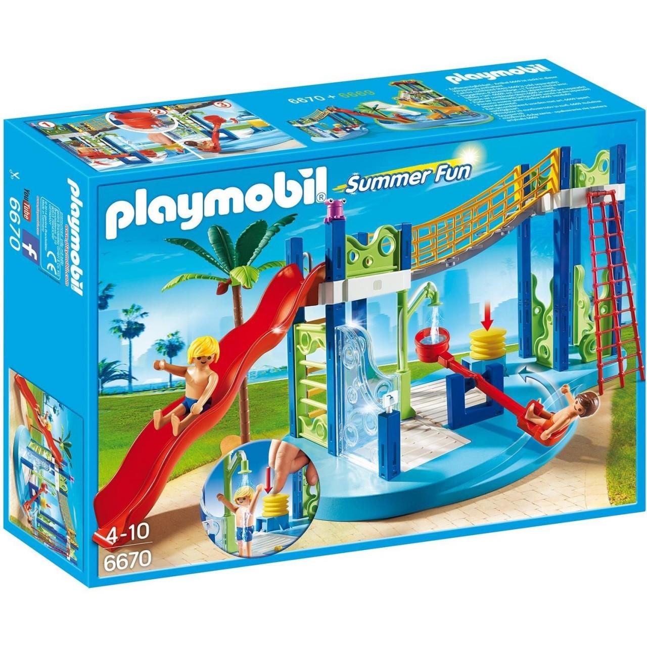PLAYMOBIL 6670 Wasserspielplatz Spielpark Wellenrutsche Neu & OVP