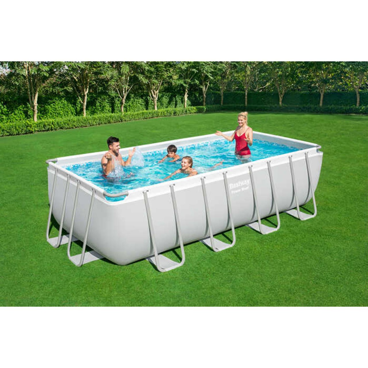 Bestway 56671 Power Steel Rectangular Pool Set 488x244x122cm