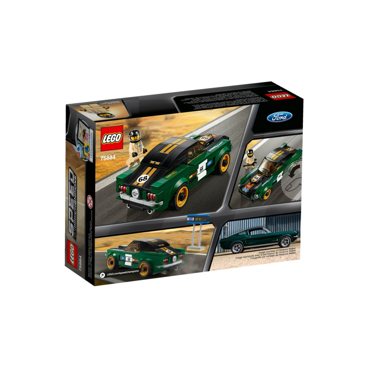 LEGO SPEED CHAMPIONS 75884 1968 Ford Mustang Fastback