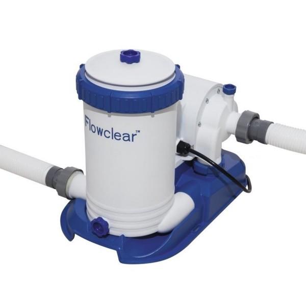 Bestway Filterpumpe Flowclear Kartuschenfilterpumpe + Kartusche 9463 l/h 58391