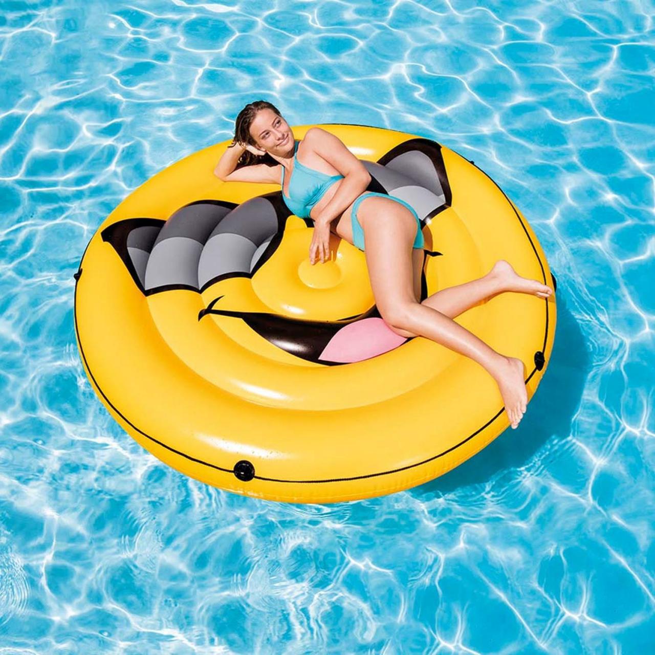 Intex 57254 Badeinsel Smile Lounge Luftmatratze Schwimmliege 173x27cm aufblasbar