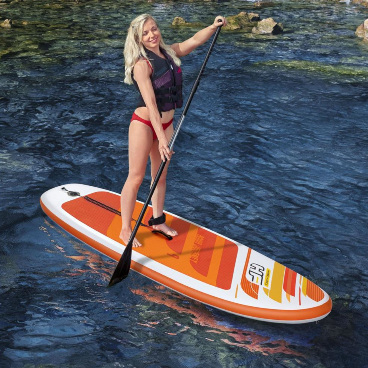"Bestway Hydro-Force 65349 SUP-Board-Set ""Aqua Journey"" Paddelboard aufblasbar"