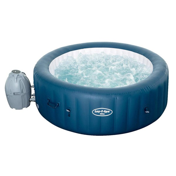 Bestway 54184 Lay-Z-Spa Milan AirJet Plus, blau, 196 x 71 cm