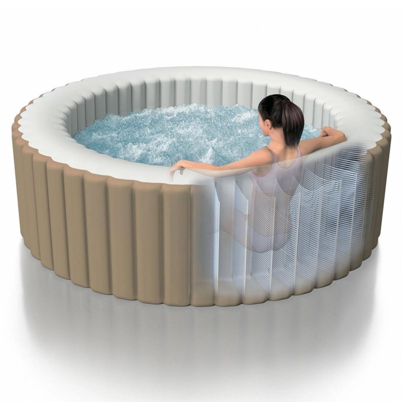 Intex 28408 Whirlpool Pure Spa Jacuzzi Heizung Spa Pool 216X71 cm 4 Personen