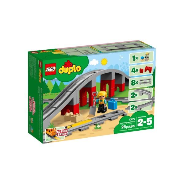 LEGO DUPLO 10872 Eisenbahnbrücke und Schienen