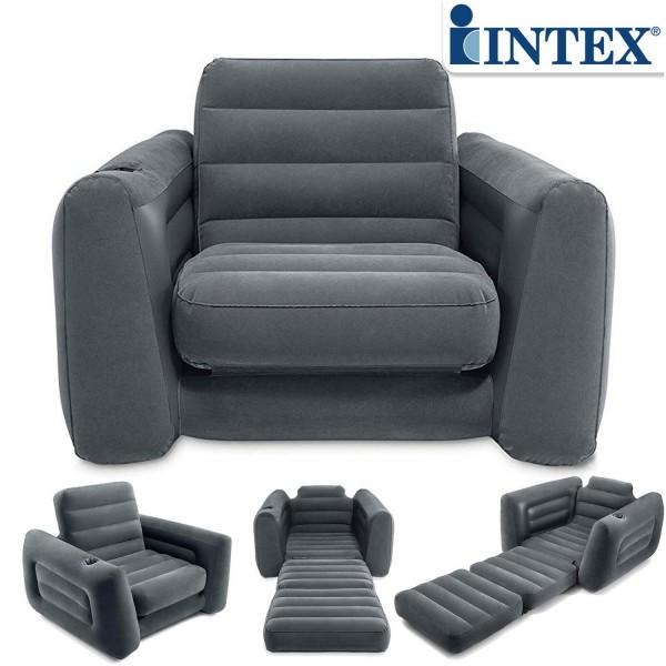 Intex Sofa Couch Lounge Sessel Luftbett Gästebett aufblasbar 117x224x66 cm 66551
