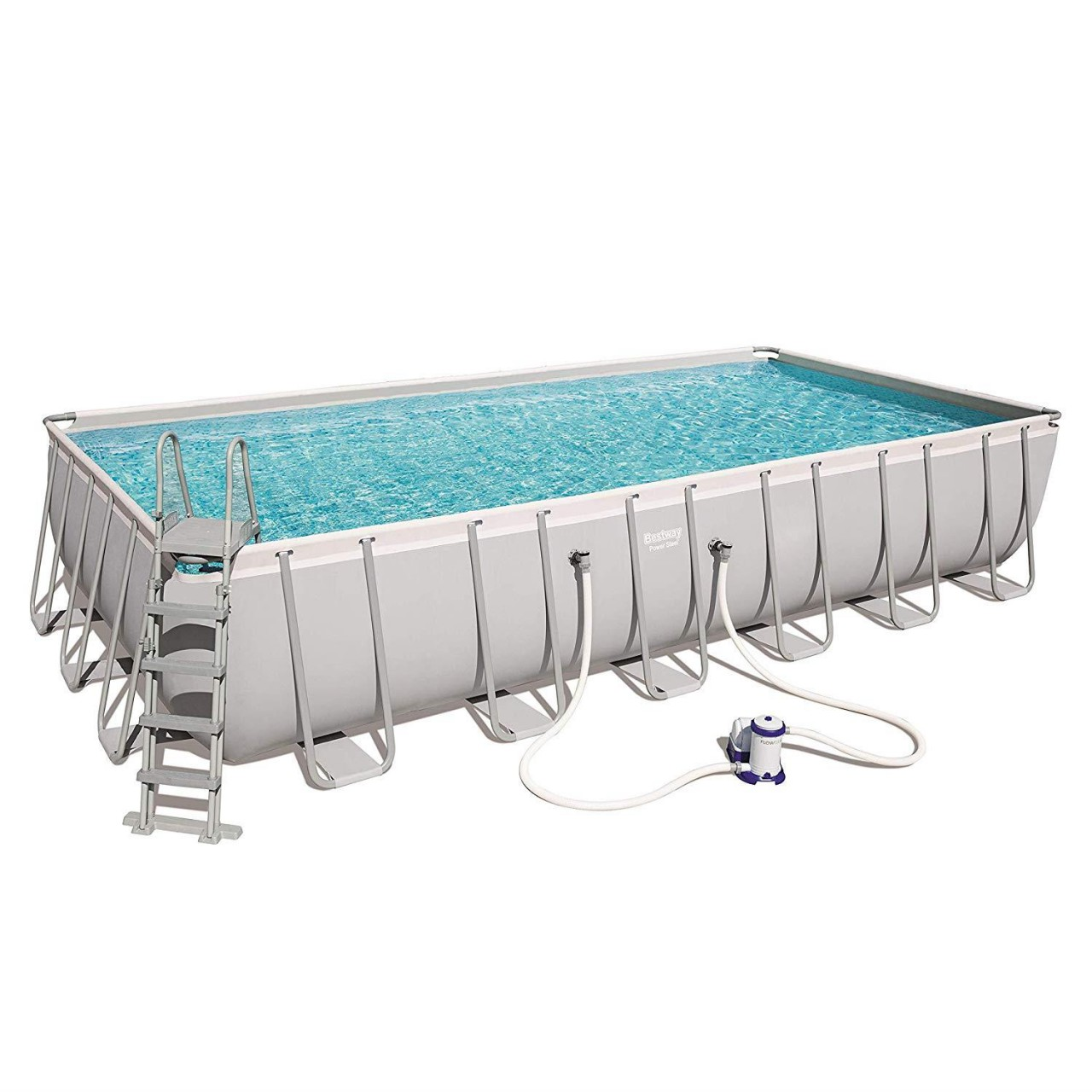 Bestway 56474 Power Steel Rectangular Pool Set 732x366x132 cm
