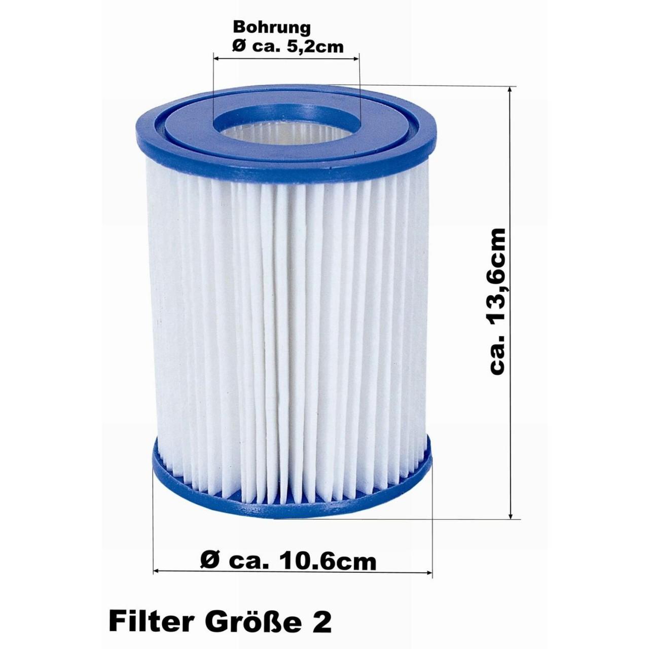 Bestway 58094 Filterkartuschen 12er-Set Größe 2