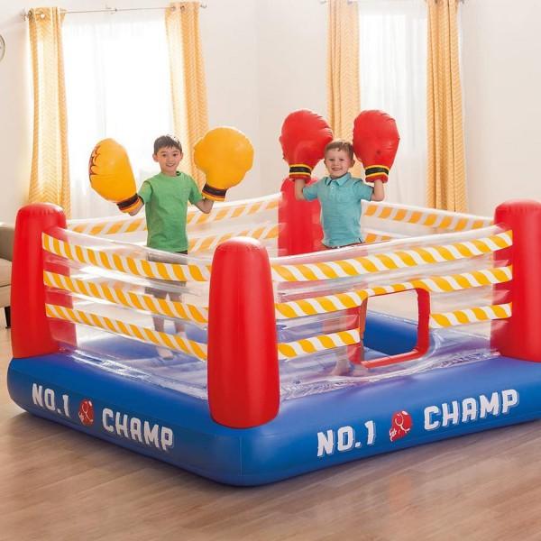 Intex 48250 Jump-o-Lene Boxring aufblasbar Kinder Hüpfburg  mit Boxhandschuhen