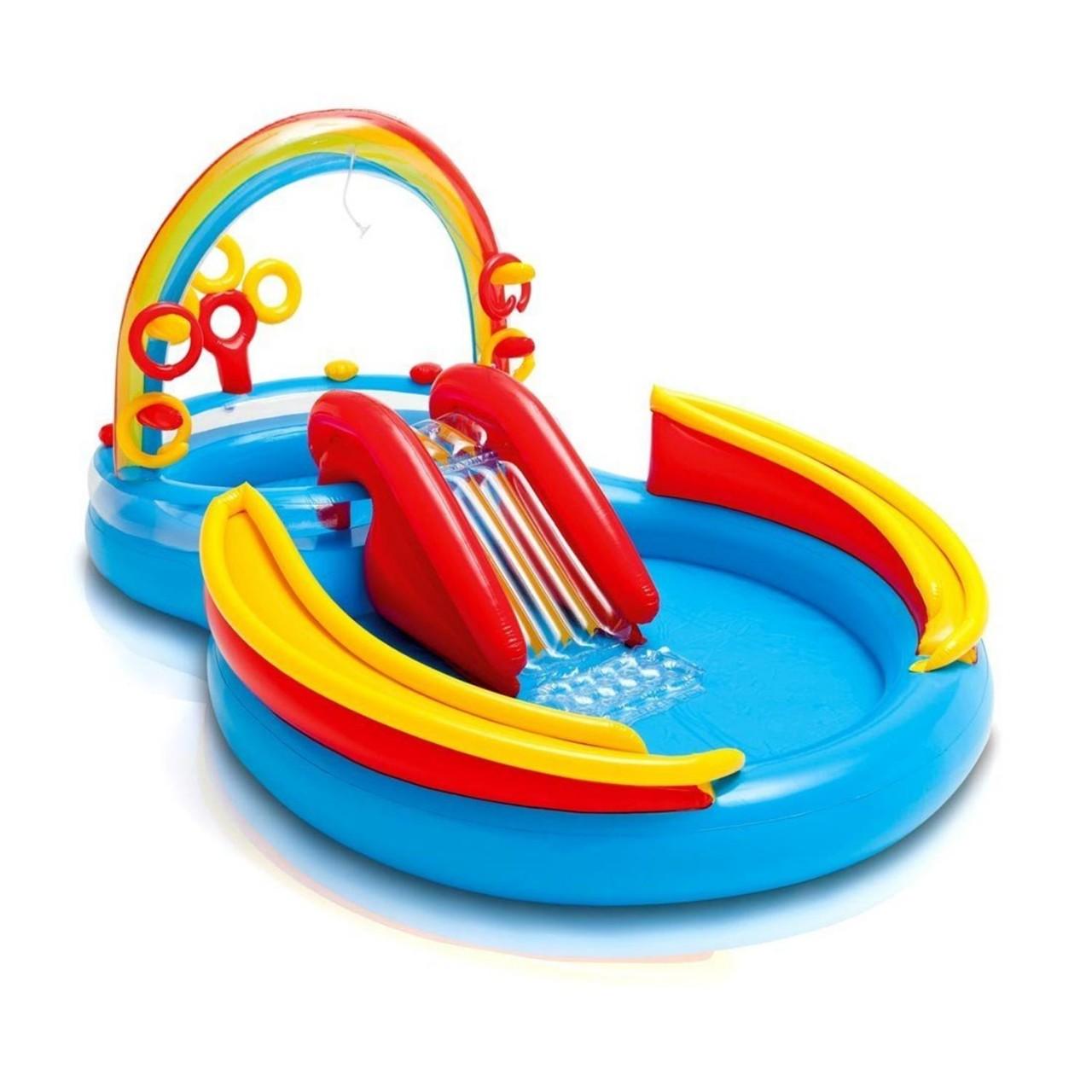 Intex 57453 Kinder Pool mit Rutsche Babypool Planschbecken Büllebad