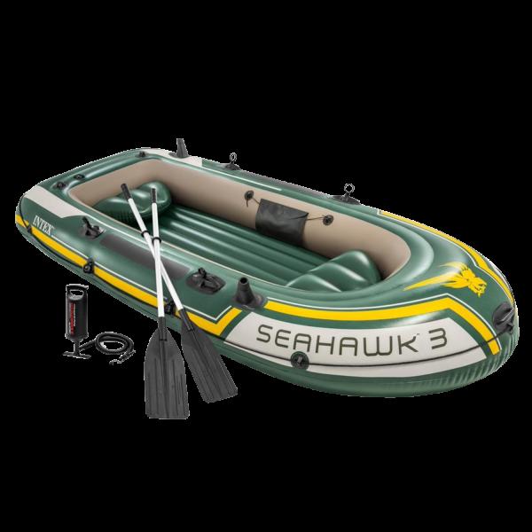 Intex 68380 Seahawk 3 Schlauchboot Ruderboot Angelboot Aufblasbar Pumpe Paddel