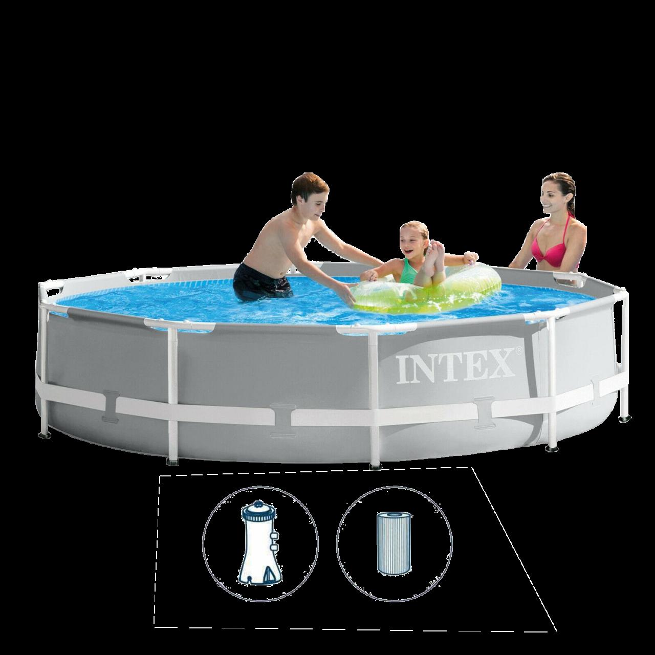 Intex 26702 Swimming Pool Set Frame Prism Ø305 x 76 cm Pumpe Schwimmbecken Pool