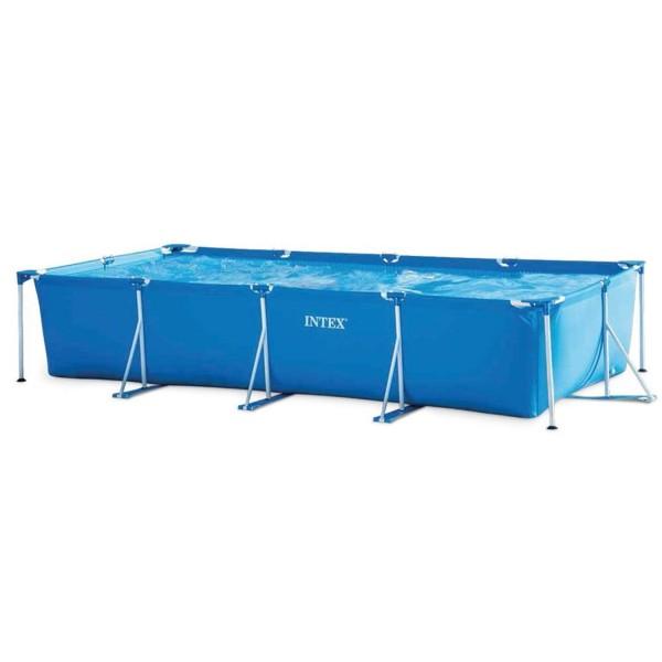 Intex 28273 Aufstellpool Frame Pool Rechteck Familienpool 450 x 220 x 84 cm