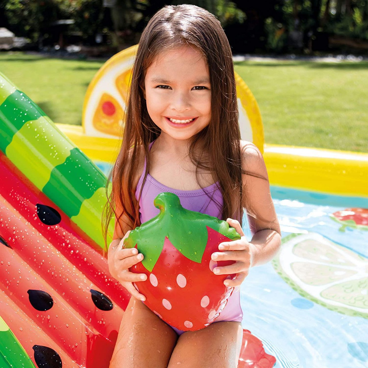 Intex Play Center Aufblasbarer Kinderpool Fun and Fruity 244x191x91 cm 57158