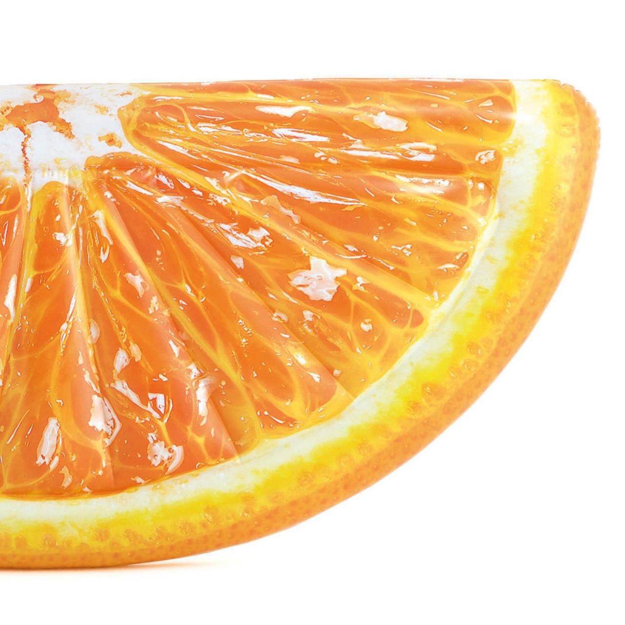 Intex Luftmatratze Orangenscheibe Lounge Wasserliege 178x85cm 58763
