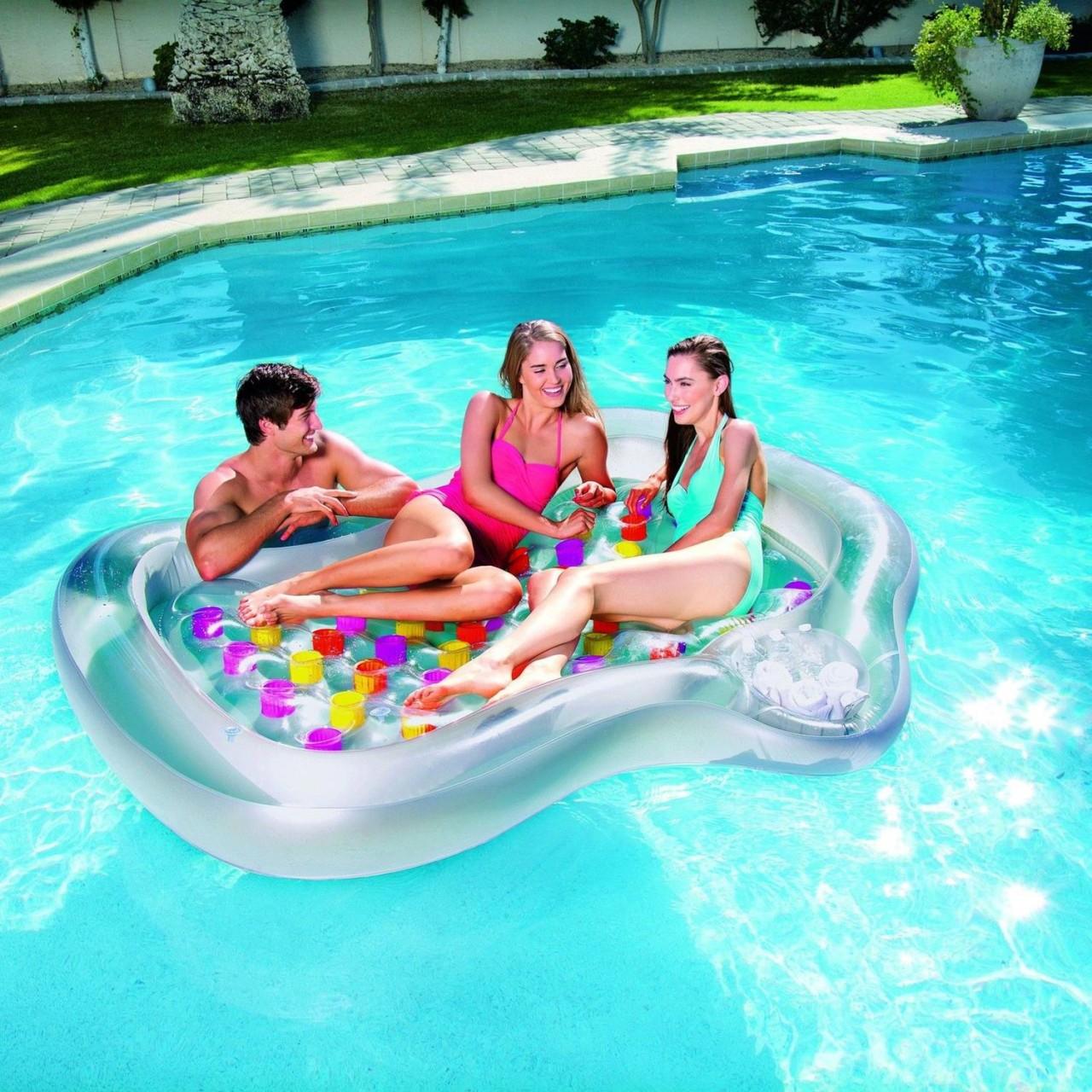 Bestway 43045 Doppel Luftmatratze Badeinsel Designer Pool Lounge Schwimmliege