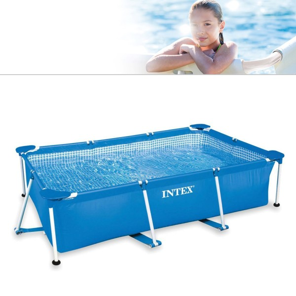 Intex 28271 Family Schwimmbad Pool Rechteck Frame Swimmingpool 260x160x65cm