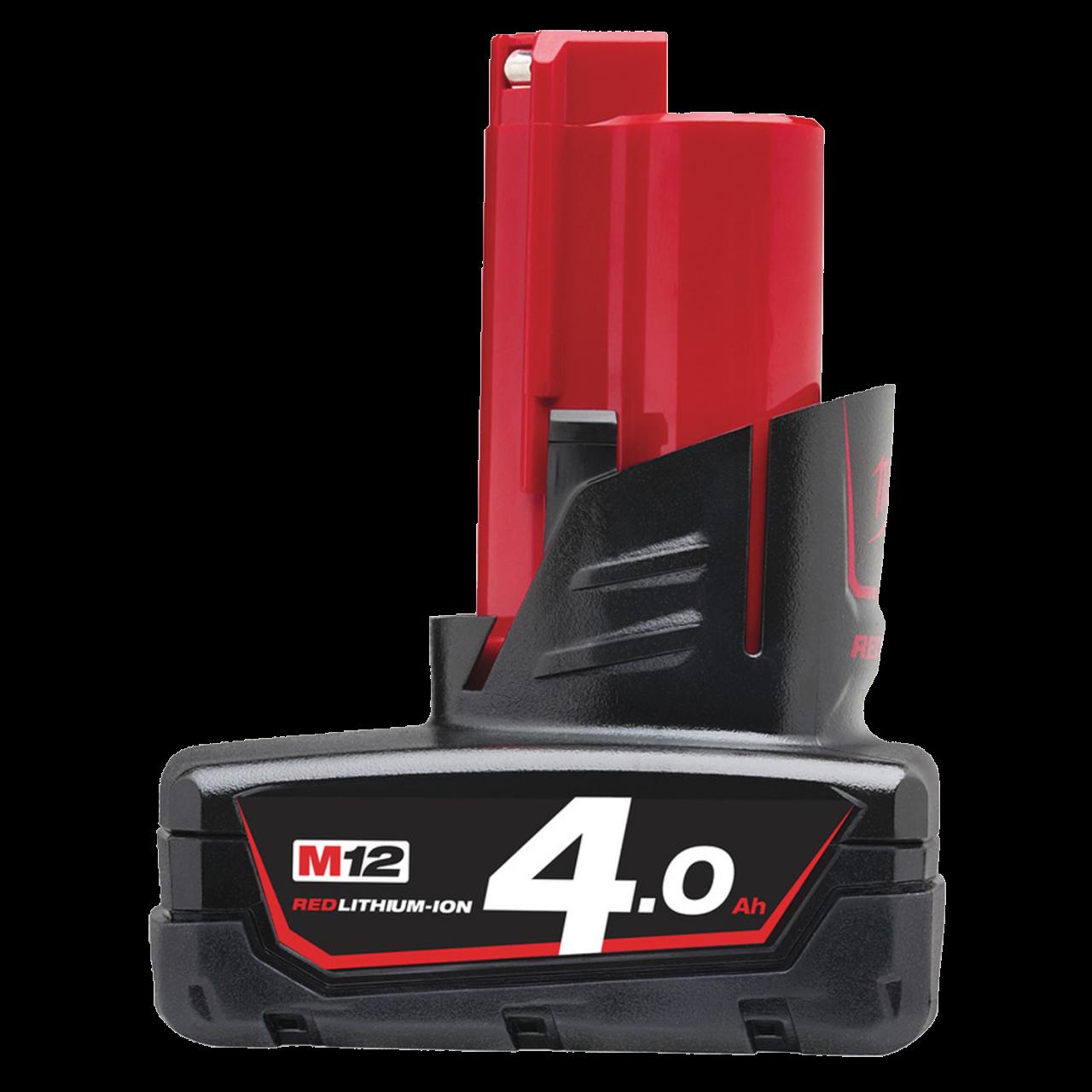 Milwaukee M12 B4 Akku 12V 4.0 AH Red Lithium