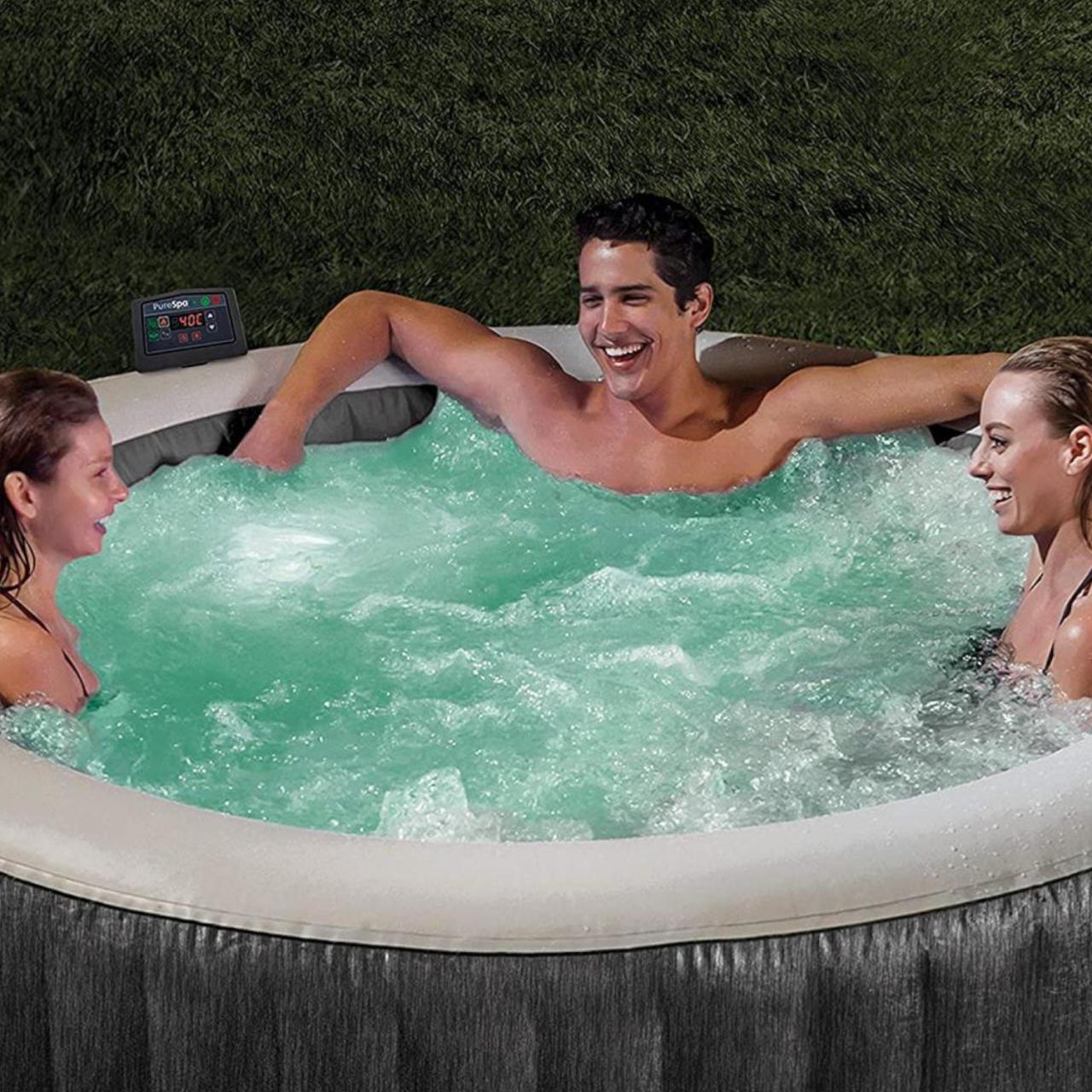 Intex 28442 Whirlpool Pure SPA Bubble Massage GreyWood 216x71 cm aufblasbar