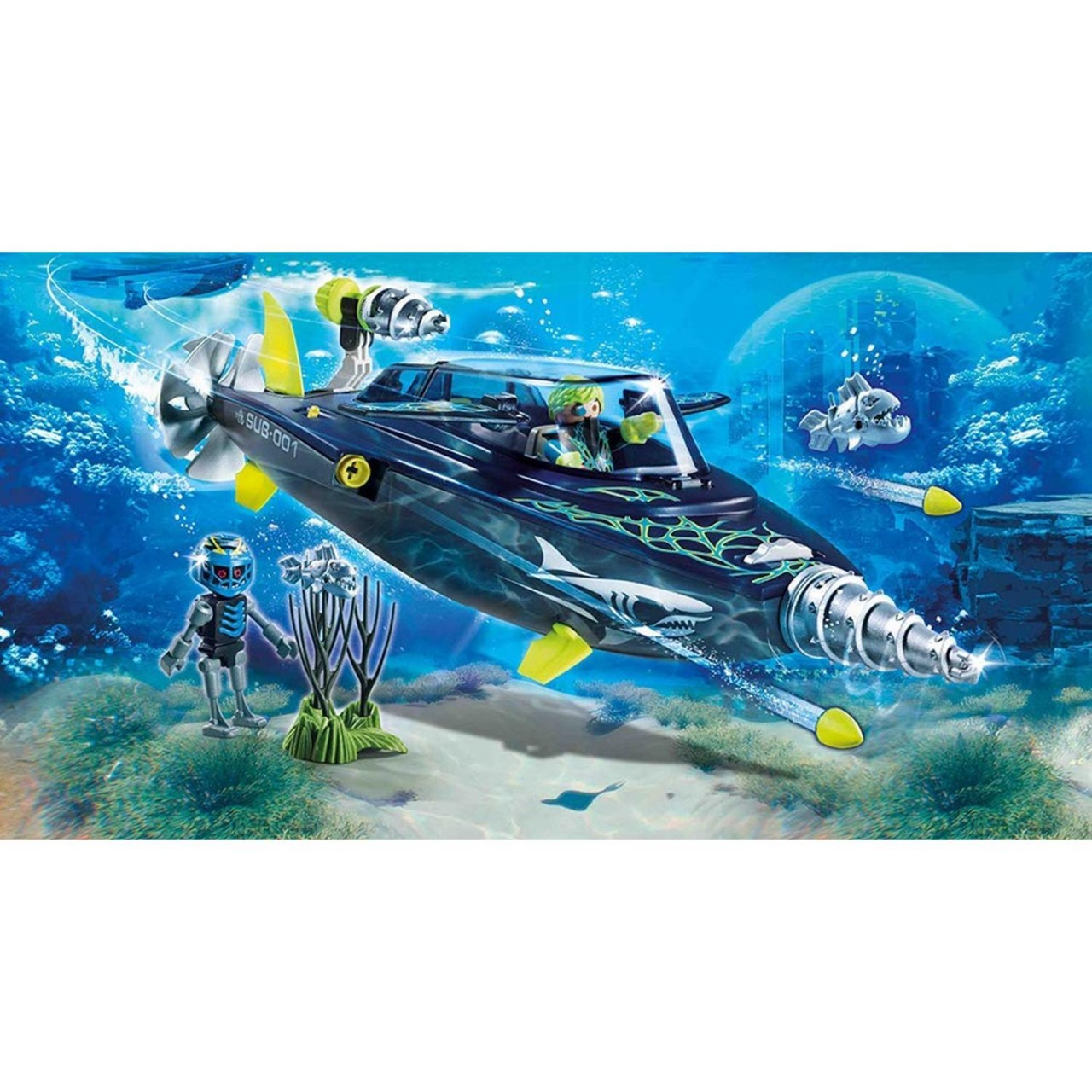 Playmobil 70005 TEAM S.H.A.R.K. Drill Destroyer