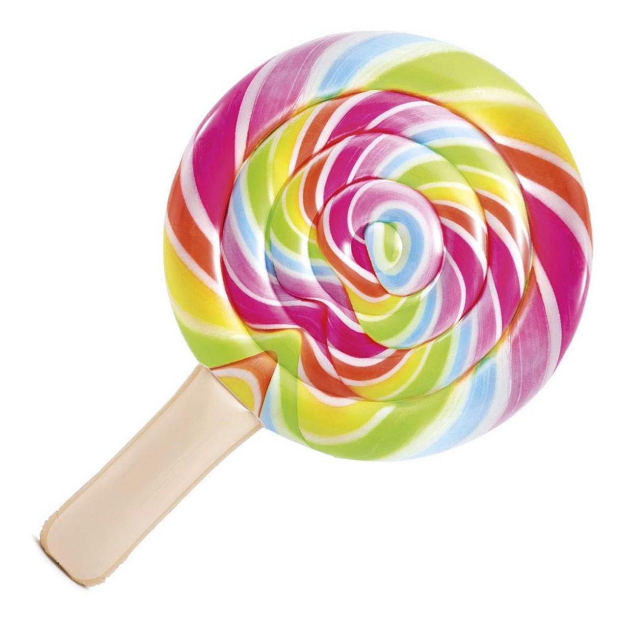 Intex Luftmatratze Lollipop Wasserliege Matratze Pool 208x135 cm Badeinsel 58753
