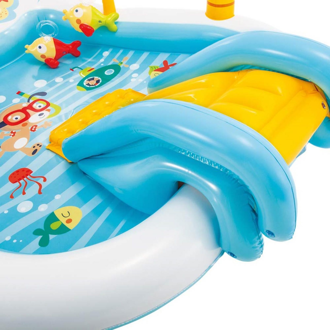 Intex Play Center Fishing Fun Planschbecken Pool Wasserrutsche aufblasbar 57162